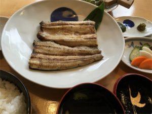 昨年食べた友栄さんの青うなぎ、白焼きです。