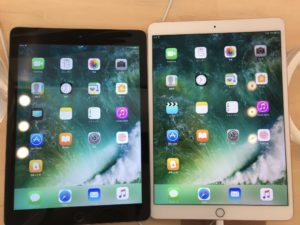 9.7インチと10.5インチのiPadProを比べる。