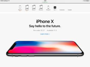 iPhoneXは、9月発売でないです。11月3日発売・・・。