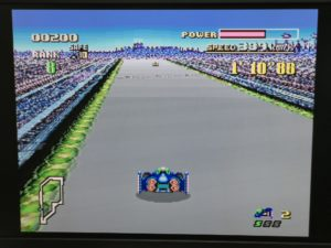 ミニスーパーファミコン、F-Zeroのプレイ画面