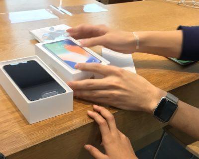 iPhoneXをアップル表参道で開封!