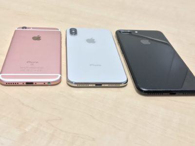iPhoneXと過去のiPhoneとの比較、背面写真