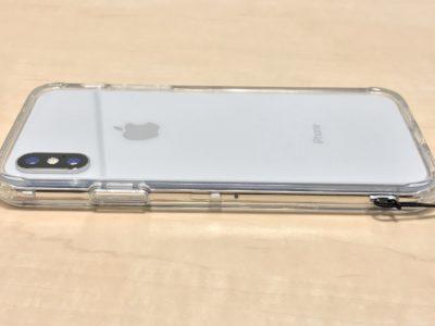 iPhoneXにバンパーをつけた背面写真