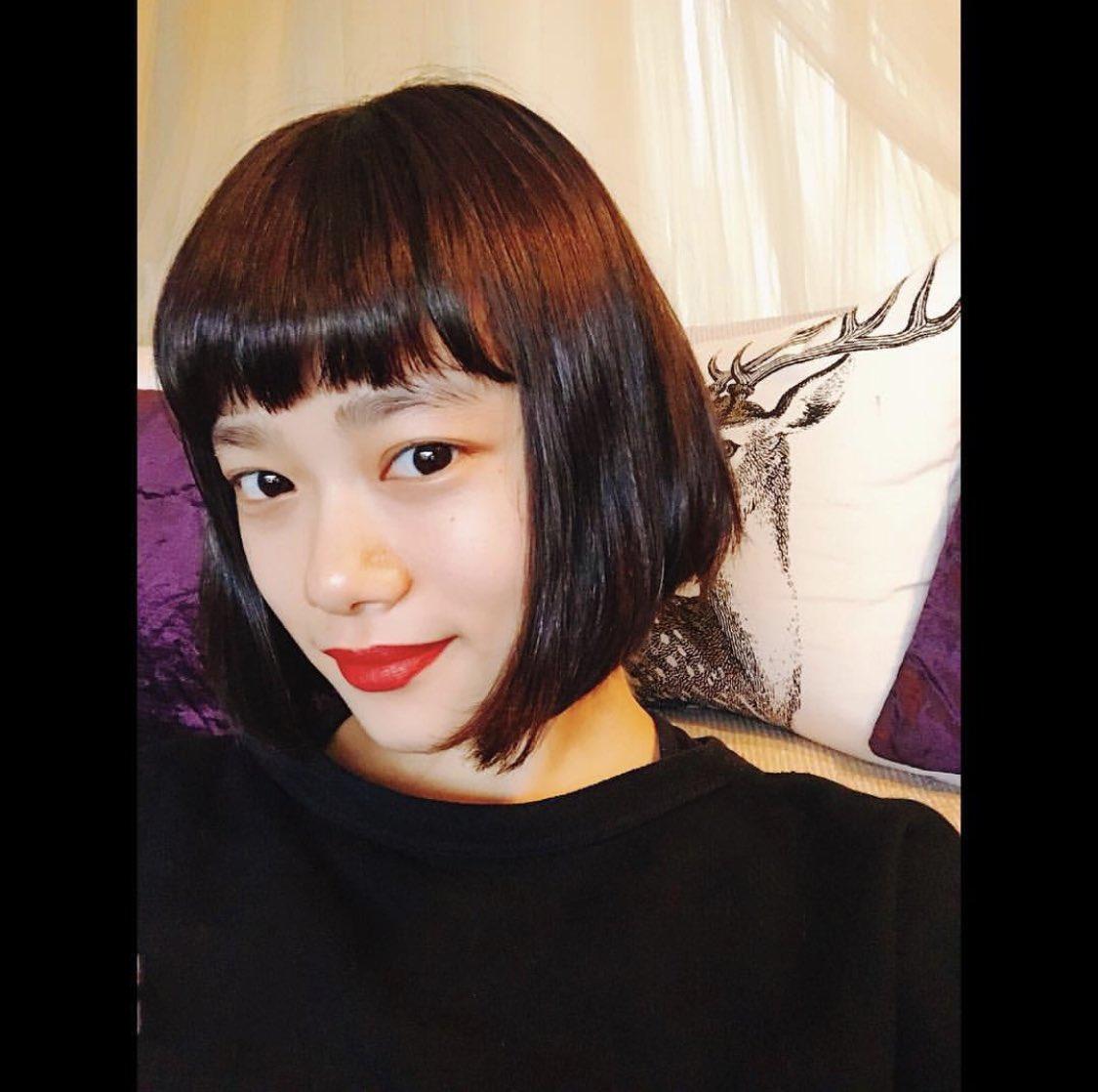 杉咲花の髪型